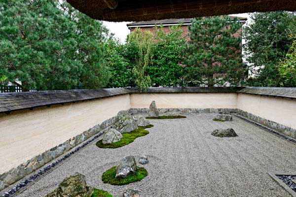 Zen garden at 3 Wheels London