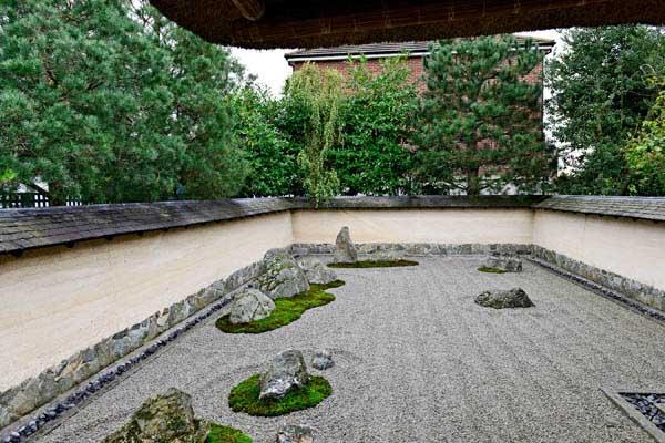 Zen garden at 3 Wheels London