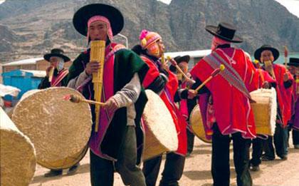 Aymara dancers