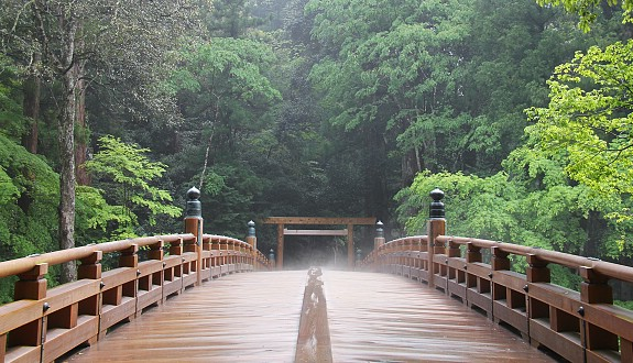 The bridge giving access to Ise Jingu