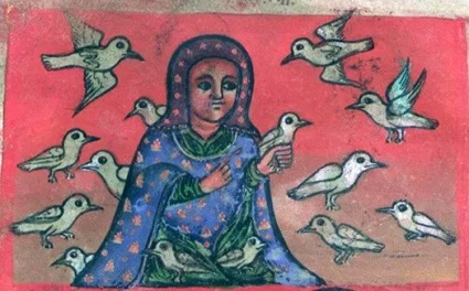 Walatta Petros with doves